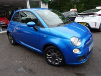 USED 2014 64 FIAT 500 0.9 TWINAIR S (SPORT) 3d 105 BHP 6 Speed Gearbox producing 105BHP and finished in Electric Blue! Full Service History + Serviced by ourselves, One Lady Owner from new, Minimum 8 months MOT, Excellent fuel economy! ZERO Road Tax!