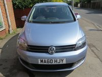 USED 2010 60 VOLKSWAGEN GOLF PLUS 1.6 SE TDI 5d 103 BHP LOW MILEAGE, NICE SPEC.FINANCE ME TODAY-UK DELIVERY POSSIBLE