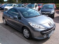 USED 2007 57 PEUGEOT 207 1.6 GT COUPE CABRIOLET HDI 2d 108 BHP DIESEL / CONVERTIBLE RELIABLE FAMILY CAR WITH SERVICE HISTORY, DRIVES SUPERBLY !!