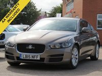 USED 2015 15 JAGUAR XE 2.0 PRESTIGE 4d AUTO 161 BHP NAVIGATION, FULL LEATHER + REVERSING CAMERA