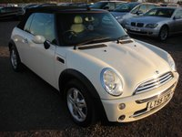 2005 MINI CONVERTIBLE 1.6 ONE 2d 89 BHP £SOLD