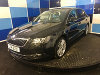 "USED 2014 14 SKODA SUPERB 2.0 ELEGANCE TDI CR DSG 5d AUTO 139 BHP A truely stunning example of this very highly sought after executive diesel hatchback finished in metalic black paintwork further enhanced with 18"" multispoke alloys,this car comes fully equiped with touchscreen salelite navigation,full leather interior,heated and electic adjust front seats ,voice activation system,cruise control/speed limiter,tpms,power fold mirrors ,dual zone climate control,xenon headlamps plus lots more,this car needs to be viewed to be fully appreciated,"