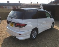 USED 2003 53 TOYOTA ESTIMA 2.4 MOT 22nd April 2020.... 8 Seater MPV.... Imported Into UK in 2014.... 3 Services Carried out in UK.... Front and Rear Cameras.... Pearl Effect White Paint with privacy glass....