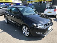 USED 2012 62 VOLKSWAGEN POLO 1.2 SEL TSI 3 DOOR 103 BHP IN BLACK WITH 83000 MILES WITH A GOOD SPEC. APPROVED CARS ARE PLEASED TO OFFER THIS VOLKSWAGEN POLO 1.2 SEL TSI 3 DOOR 103 BHP IN BLACK WITH 83000 MILES WITH A GOOD SPEC INCLUDING DAB RADIO,UPGRADED ALLOYS,AIR CON AND MUCH MORE WITH A FULL SERVICE HISTORY SERVICED AT16K,22K,33K,42K,53K,64K AND72K A GREAT POLO AND A RARE MODEL BEING A 1.2 SEL STI.