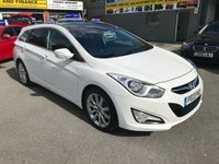 USED 2013 13 HYUNDAI I40 1.7 CRDI PREMIUM 5 DOOR 134 BHP IN WHITE WITH 162000 MILES WITH GREAT SPEC. APPROVED CARS ARE PLEASED TO OFFER THIS HYUNDAI I40 1.7 CRDI PREMIUM 5 DOOR 134 BHP IN WHITE WITH 162000 MILES WITH A GREAT SPEC INCLUDING SAT NAV WITH A FULL SERVICE HISTORY THAT DRIVES WELL FOR ITS MILEAGE AND EVERYTHING DOES AS IT SHOULD BUT DUE TO ITS MILEAGE IS BEING OFFERED AS A TRADE CLEARANCE CAR (WITHOUT WARRANTY)TRADE SALE.