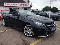 2016 MERCEDES-BENZ E CLASS 220 D AMG Line Edition 2 door Automatic Diesel Convertible £20499.00