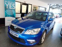 USED 2012 62 SKODA OCTAVIA 2.0 VRS TFSI 5d 198 BHP Two private owners from new, full and comprehensive service history. February 2019 Mot. Finished in Metallic Race Blue.