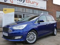 USED 2016 16 FORD GRAND C-MAX 1.5 TITANIUM TDCI 5d AUTO 118 BHP AUTOMATIC SEVEN SEATER DIESEL WITH GREAT SPECIFICATION & £30 ROAD TAX