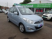 USED 2011 11 HYUNDAI I10 1.2 STYLE 5d 85 BHP £0 DEPOSIT FINANCE DEALS AVAILABLE....TEST DRIVE TODAY CALL 01543 877320