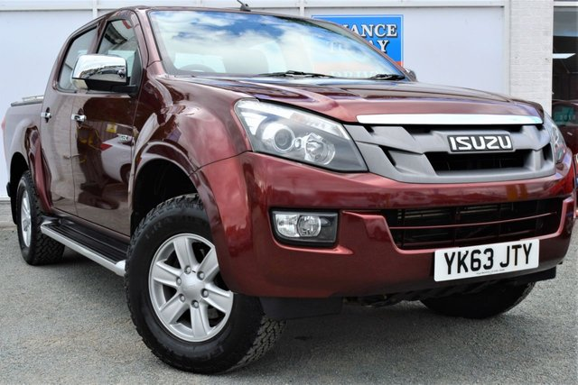 2013 63 ISUZU D-MAX 2.5 TD EIGER Double Cab 5 Seat Pickup with Side Steps Towbar Load Liner and Mountain Top Rear Cover