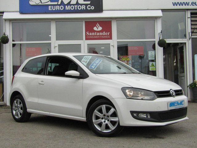 2013 13 VOLKSWAGEN POLO 1.4 MATCH 3d 83 BHP CANDY WHITE