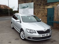 USED 2015 15 SKODA SUPERB 1.6 SE BUSINESS GREENLINE III TDI CR 5d 103 BHP ESTATE SAT NAV FULL Skoda Service History