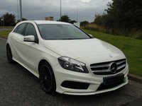 "USED 2014 14 MERCEDES-BENZ A CLASS 1.5 A180 CDI BLUEEFFICIENCY AMG SPORT 5d 109 BHP BODY STYLING, 18"" BLACK ALLOY WHEELS, HALF LEATHER SPORTS WHEELS"
