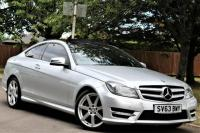 USED 2013 63 MERCEDES-BENZ C CLASS 2.1 C220 CDI BlueEFFICIENCY AMG Sport Sport Coupe 7G-Tronic Plus 2dr SAT NAV-BLUETOOTH-DAB RADIO-