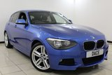 USED 2013 13 BMW 1 SERIES 1.6 116I M SPORT 5DR 135 BHP Bluetooth 18 inch Alloys  BMW SERVICE HISTORY + BLUETOOTH + CRUISE CONTROL + PARKING SENSOR + MULTI FUNCTION WHEEL + CLIMATE CONTROL + 18 INCH ALLOY WHEELS