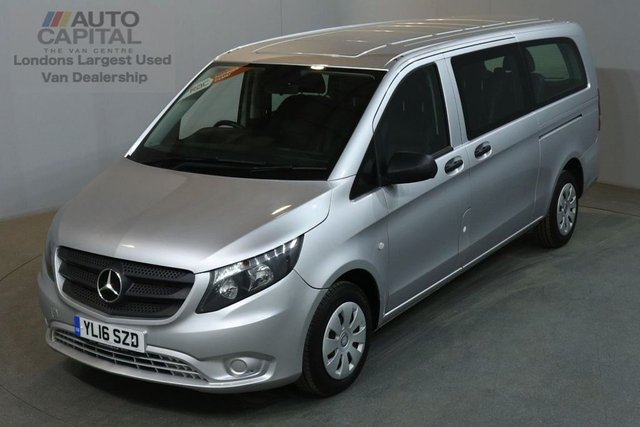 2016 16 MERCEDES-BENZ VITO 2.1 114 BLUETEC TOURER PRO EURO 6 AIR CON 136 BHP EXTRA LWB 9 SEATER £19,890+VAT EURO 6 LEATHER
