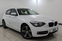 USED 2014 14 BMW 1 SERIES 1.6 118I SPORT 5DR 168 BHP Full Service History FULL BMW SERVICE HISTORY + BLUETOOTH + MULTI FUNCTION WHEEL + AIR CONDITIONING + RADIO/CD + ELECTRIC WINDOWS + 17 INCH ALLOY WHEELS