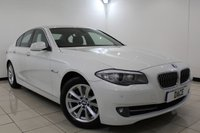 USED 2011 61 BMW 5 SERIES 3.0 530D SE 4DR AUTOMATIC 255 BHP BMW SERVICE HISTORY + HEATED LEATHER SEATS + SAT NAVIGATION + PARKING SENSOR + BLUETOOTH + CRUISE CONTROL + MULTI FUNCTION WHEEL + CLIMATE CONTROL + 17 INCH ALLOY WHEELS