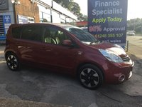 2013 NISSAN NOTE 1.6 N-TEC PLUS 5d 110 BHP, Only 46000 miles, 2 Owners £5995.00