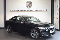 USED 2016 16 BMW 2 SERIES 1.5 218I SPORT 2DR 134 BHP full service history 1 owner sat nav + SATELLITE NAVIGATION + BLUETOOTH + SPORT SEATS + PARK DISTANCE CONTROL + DAB RADIO + 17 INCH ALLOY WHEELS +
