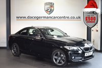 USED 2016 16 BMW 2 SERIES 1.5 218I SPORT 2DR 134 BHP full service history sat nav DEEP BLACK WITH ANTHRACITE CLOTH UPHOLSTERY + FULL SERVICE HISTORY + 1 OWNER FROM NEW + SATELLITE NAVIGATION + BLUETOOTH + PARK DISTANCE CONTROL + DAB RADIO + 17 INCH ALLOY WHEELS