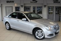 USED 2013 62 MERCEDES-BENZ C CLASS 2.1 C220 CDI BLUEEFFICIENCY EXECUTIVE SE 4d AUTO 168 BHP FULL SERVICE HISTORY + FULL LEATHER SPORT SEATS + COMAND SATELLITE NAVIGATION + BLUETOOTH + DAB RADIO + 19 INCH ALLOYS + CRUISE CONTROL + PARKING SENSORS