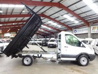 """USED 2016 16 FORD TRANSIT 2.2 350 C/C 125 BHP STEEL BODY TIPPER - ONE OWNER """"YOU'RE IN SAFE HANDS"""" - AA DEALER PROMISE"""