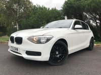 USED 2013 13 BMW 1 SERIES 2.0 116D ES 5d 114 BHP ECONOMICAL NEW SHAPE 1 SERIES IN WHITE