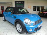 USED 2013 63 MINI CONVERTIBLE 1.6 ONE 2d 98 BHP    PEPPER PACK FULL MAIN DEALER HISTORY + DAB RADIO + PEPPER PACK + ALLOYS + CLIMATE CONTROL + 2 KEYS + LOW MILEAGE