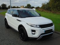 USED 2013 13 LAND ROVER RANGE ROVER EVOQUE 2.2 SD4 DYNAMIC LUX 5d AUTO 190 BHP PAN ROOF, SAT NAV, RED LEATHER