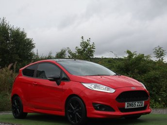2015 FORD FIESTA 1.0 ZETEC S RED EDITION 3d 139 BHP £9490.00