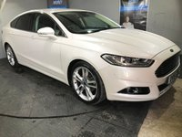 USED 2015 15 FORD MONDEO 2.0 TITANIUM TDCI 5d 177 BHP £30 a year road tax  :  Bluetooth : Sat Nav  :  DAB Radio  :  Full leather upholstery  :  Heated front seats  :  Heated front screen  :  Electric driver + passenger seats  :  Full service history  :  Ford Active Park Assist system  :  Front + rear parking sensors