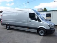 USED 2017 17 MERCEDES-BENZ SPRINTER 314CDI LWB, 140 BHP [EURO 6], ELECTRIC PACK 1 COMPANY OWNER