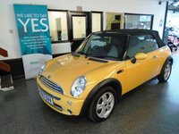 """USED 2007 57 MINI CONVERTIBLE 1.6 ONE 2d 89 BHP This """"mellow yellow"""" Mini Cabriolet is finished in Metallic Blue with Black FULL LEATHER seats. It is fitted with power steering, remote locking, electric windows, mirrors and folding roof, rear parking sensors, alloy wheels, CD Stereo and more. It has been privately owned and comes with an excellent service history from both MINI and independent garages. The current Mot runs till August 2019. We will supply the vehicle with a service, 6 month warranty which can be extended."""