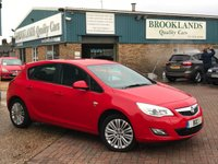 2011 VAUXHALL ASTRA 1.4 EXCITE Power Red Anthracite Cloth 5 Door 98 BHP £5695.00