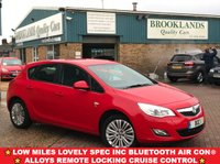 USED 2011 61 VAUXHALL ASTRA 1.4 EXCITE Power Red Anthracite Cloth 5 Door 98 BHP Low Miles Lovely Spec inc Bluetooth Air Con Alloys Remote Locking Cruise Control