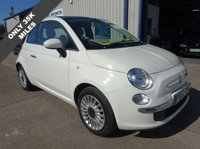 USED 2012 62 FIAT 500 1.2 LOUNGE 3d + LOW MILEAGE + 35K FULL FIAT S HISTORY + GLASS ROOF