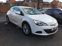 USED 2015 15 VAUXHALL ASTRA 1.4 GTC SRI 3d AUTO 138 BHP GREAT SPECIFICATION AUTOMATIC WITH PARKING SENSORS, 140BHP, HALF LEATHER, 18INCH ALLOY WHEELS, AIR CONDITIONING, AND AUXILLIARY/USB CONNECTION!..GOOD FUEL ECONOMY, CO2 EMISSIONS(154G/KM) AND FULL VAUXHALL HISTORY. ONLY 9679 MILES FROM NEW!