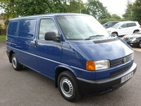 USED 2001 51 VOLKSWAGEN TRANSPORTER 1.9 800 SPL SWB TD 1d 67 BHP 2001/ 51 VOLKSWAGEN T4 1.9 TDI 800 SPECIAL 1 OWNER FROM NEW, INDIA BLUE, FULL SERVICE HISTORY