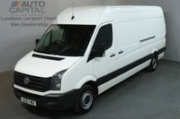 USED 2016 16 VOLKSWAGEN CRAFTER 2.0 CR35 TDI H/R P/V 5d 135 BHP L3H3 RWD LWB VAN  ONE OWNER FROM NEW / SPARE KEY