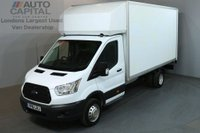 USED 2016 16 FORD TRANSIT 2.2 350 124 BHP L4 EXTRA LWB TAIL LIFT FITTED LUTON VAN ONE OWNER / REAR ELECTRIC LIFT
