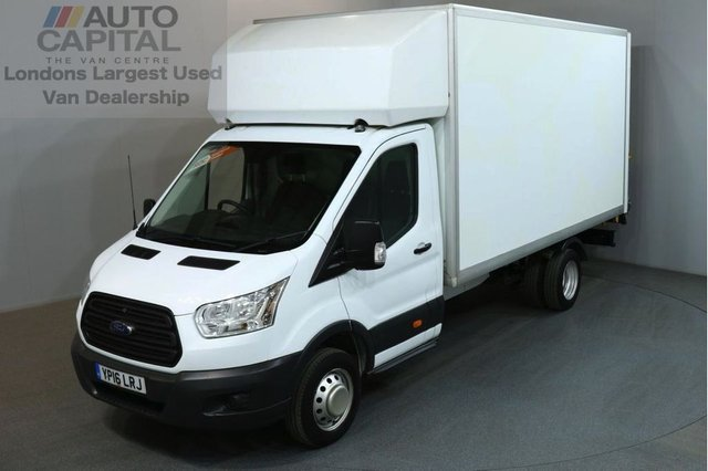 2016 16 FORD TRANSIT 2.2 350 124 BHP L4 EXTRA LWB TAIL LIFT FITTED LUTON VAN ONE OWNER / REAR ELECTRIC LIFT