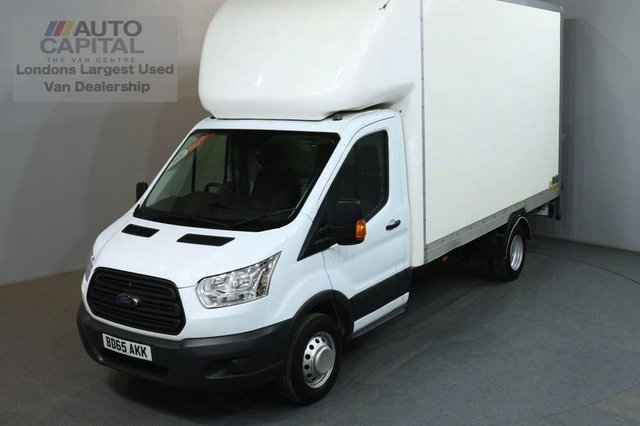 2015 65 FORD TRANSIT 2.2 350 124 BHP LWB TAIL LIFT FITTED LUTON VAN TWIN WHEELER 13 FOOT BED