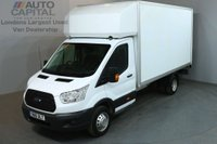USED 2016 16 FORD TRANSIT 2.2 350 124 BHP L4 EXTRA LWB TAIL LIFT FITTED LUTON VAN ONE OWNER REAR TAIL LIFT