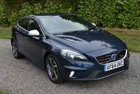 USED 2014 64 VOLVO V40 2.0 D4 R-DESIGN NAV 5d 187 BHP 1 OWNER FVSH LEATHER SAT NAV CRUISE PARK AIDS TAX £0