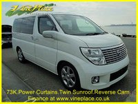 2004 NISSAN ELGRAND Nissan Elgrand XL3.5 Auto 8 Seats Twin Suroofs,Power Curtains £7500.00