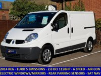 2014 RENAULT TRAFIC SL29 DCI 115 WITH AIR-CON & FULL ELECTRIC PACK £7995.00