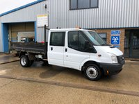 2013 FORD TRANSIT 2.2TDCI  T350 DRW 1d 100 BHP DOUBLE CAB TIPPER £9295.00