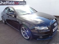 USED 2011 61 AUDI A4 2.0 TDI S LINE BLACK EDITION 4d AUTO 141 BHP FULL SERVICE HISTORY 5 STAMPS 4 MAIN DEALER LAST DONE AT 62,000 MILES LEATHER  SAT NAV SUPPLIED WITH FULL MOT