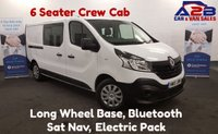 USED 2015 15 RENAULT TRAFIC 1.6  BUSINESS DCI 115 BHP  6 Seater Crew Cab , Full Colour Sat Nav, Electric Pack,  **Drive Away Today** Over The Phone Low Rate Finance Available, Just Call us on 01709 866668